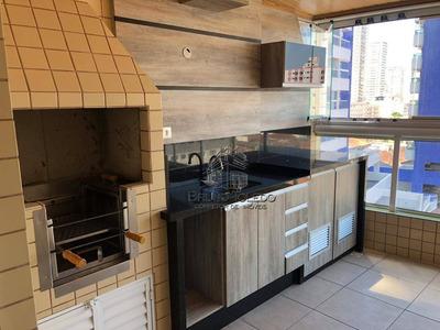 Apartamento Com 3 Dormitórios À Venda, 120 M² Por R$ 540.000 - Campo Da Aviação - Praia Grande/sp - Ap0029