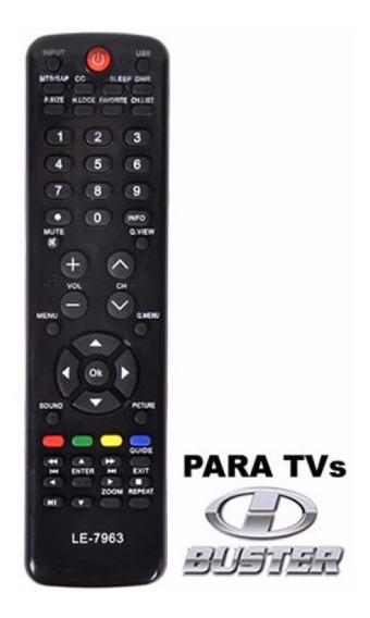 Controle Remoto Compatível Com Tv Buster Lcd Modelo 7963
