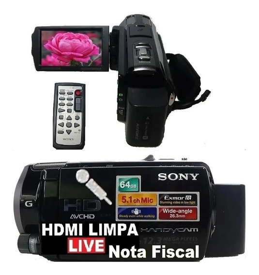 Filmadora Sony Hdr Cx560v Entrada Microfone Hdmi Limpa Live