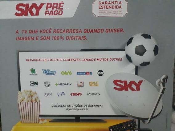 Kit Sky Pré Pago Hd Habilitado 30 Dias De Canais Digitais