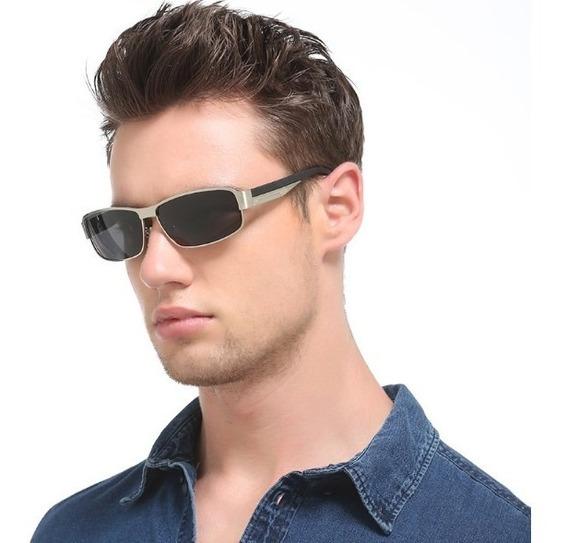 Gafas De Sol Polarizadas Uv400 Marco Color Plateado