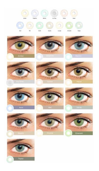 Lentes De Contacto De Colores 13 Colores Disponibles