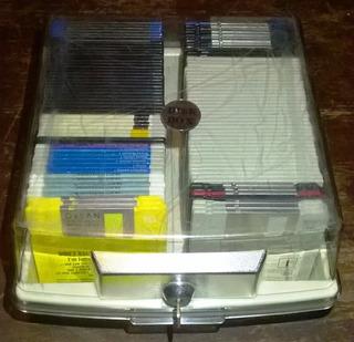 Porta Diskettes 3.5 Archivador Disk Box Capacidad 120 Disket