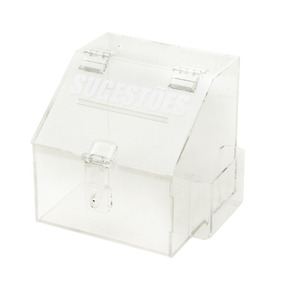 Mini Caixa De Sugestões - Transparente