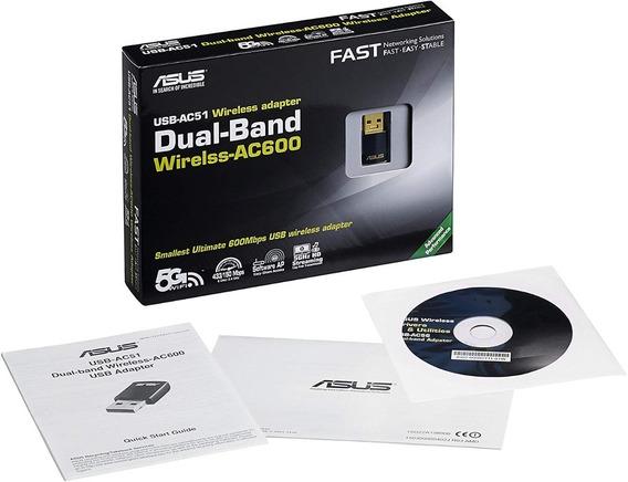 Adaptador Asus Wifi Dual Band Ac600 Usb Ac51