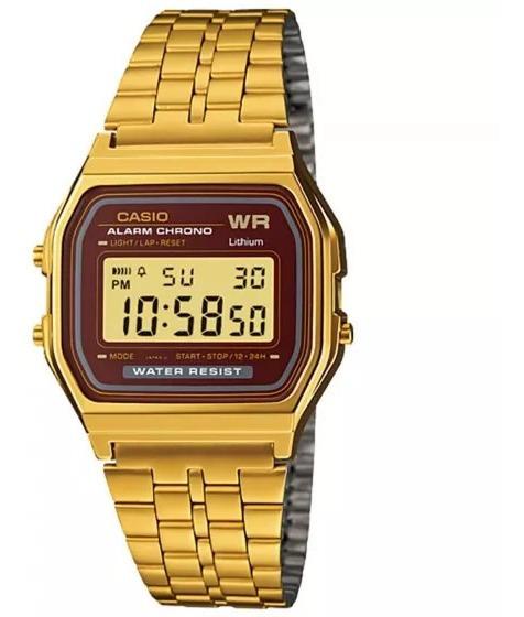 Relógio Casio A159wgea-5df Masculino Dourado