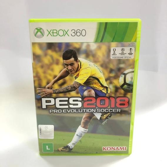 Jogo Pes 2018 Xbox 360 Midia Fisica Português Original Usado