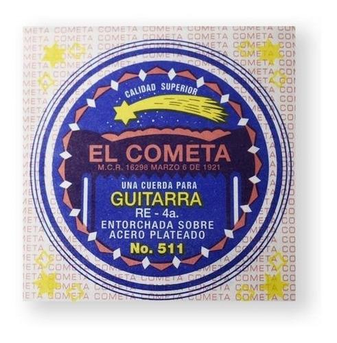 Imagen 1 de 1 de Cometa Cuerda 511(12) Para Guitarra Acústica, 4a, Cobre