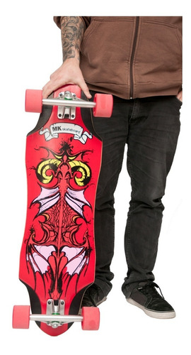 Imagen 1 de 5 de Longboard Skate Mk Skateboards Modelo Dragon Envio Gratis