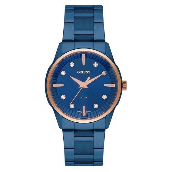 Relógio Orient Feminino Azul Metalizado Ftss0053 + Frete