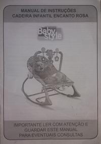 Cadeirinha Bebê Massageadora E Musical Baby Style