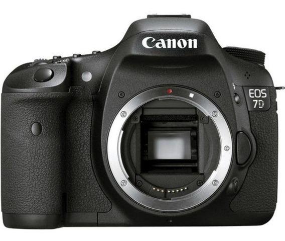 Canon 7d C/ Acessórios - Semi Usada (passo Cartão) Sao Paulo