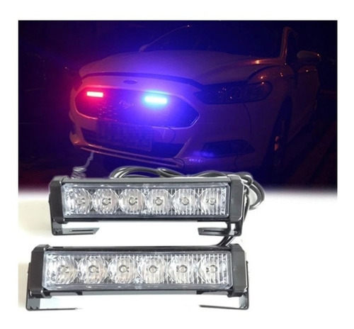 Luces Policia Federales Led Strober Carro Luces Policiales