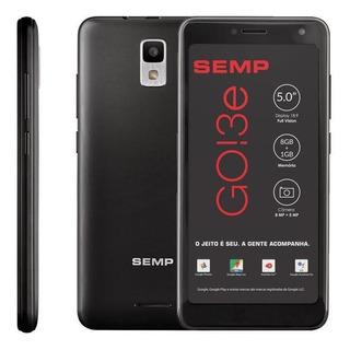 Smartphone Semp Go! 3e 5035se, 8gb, 4g, Quad Core, Preto