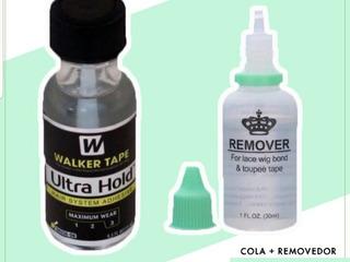 Kit Cola Mais Removedor Para Protese Full E Front Lace
