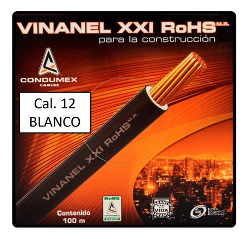 Caja 100 Mts Cable Blanco Thw Cal 12 Aw Condumex Vinanel Xxi