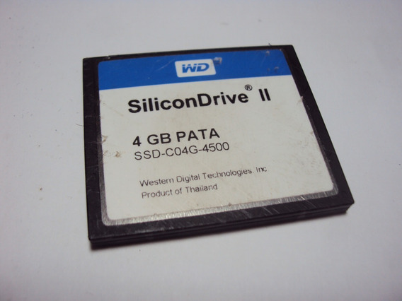 Compact Flash Wd Silicondrive Ii 4gb Pata Ssd-c04g-4500