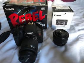 Canon T6i + 18-55mm + 50mm 5k Zerada Completa + Cartão 32gb