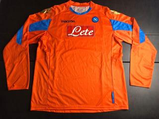 Camisa Napoli 2011-2012 Gk Manga Longa Modelo Jogador T. Gg
