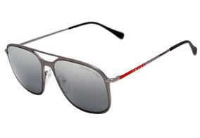 c1e7c33bd Prada Ps 53ts - Óculos De Sol 7cq 2f2 Cinza Fosco/ Prata Esp