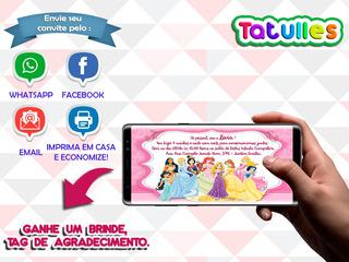 Convite Princesas Disney Digital Para Whatsapp