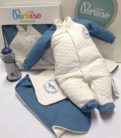 Saida De Maternidade Paraiso Bebê Menino Metalasse Cod 8322