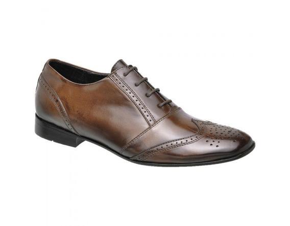 Sapato Social Masculino Couro Pinhão 793004 - Frete Grátis