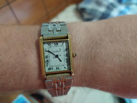 Relógio Cartier Tank Plaquê