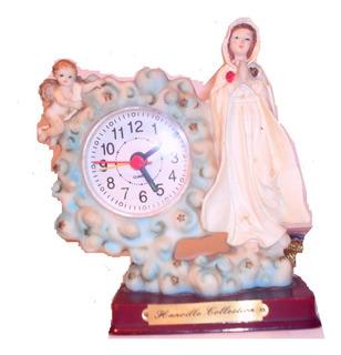 Reloj De Mesa Figura De La Virgen Decoracion