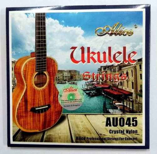 Cuerdas Ukelele Soprano Au045-s Alice