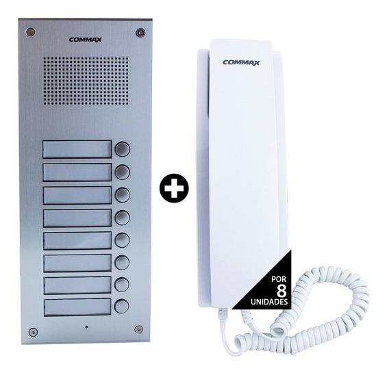 Portero Eléctrico Commax 8 Timbres 8 Teléfono Dpss + Fuente