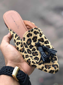 Mule Glamour Shoes Animal Print