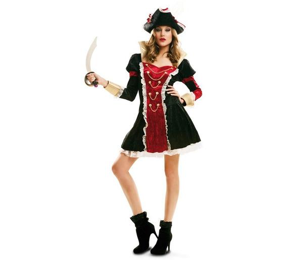 Disfraz Pirata Real De Luxe Mujer Adulto Talla L Halloween