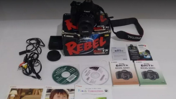 Canon T3i + Lente 18-55mm + Caixa Com Acessoriso