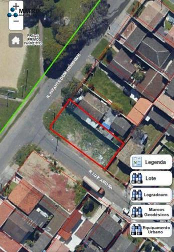 Imagem 1 de 1 de Terreno À Venda, 360 M² Por R$ 430.000,00 - Capão Raso - Curitiba/pr - Te1067