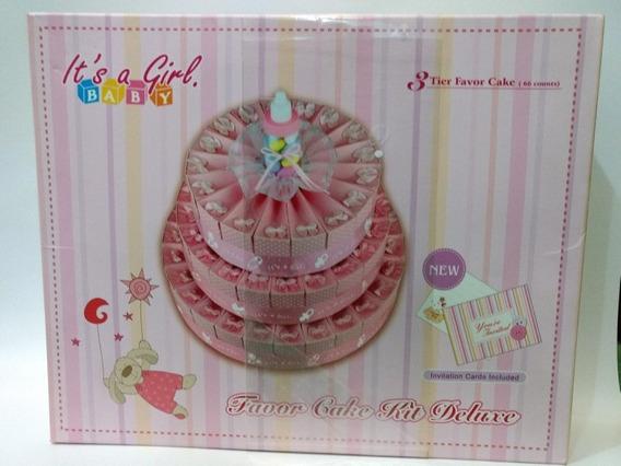 Pastel De Cajas Mini Baby Shower 66 Cajitas