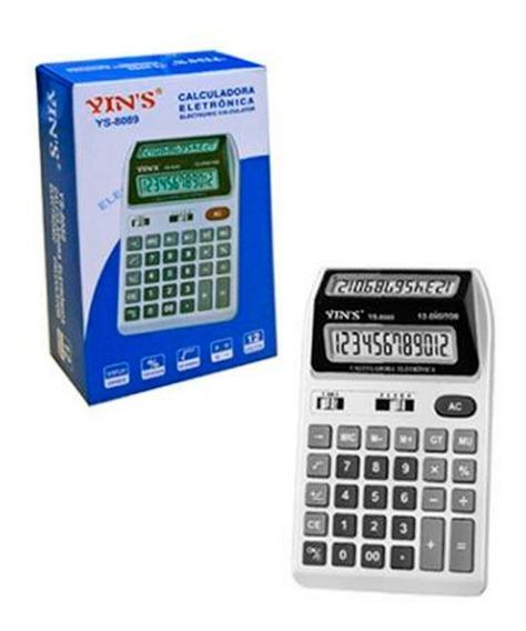 Calculadora 12 Dígitos Visor Duplo Yin