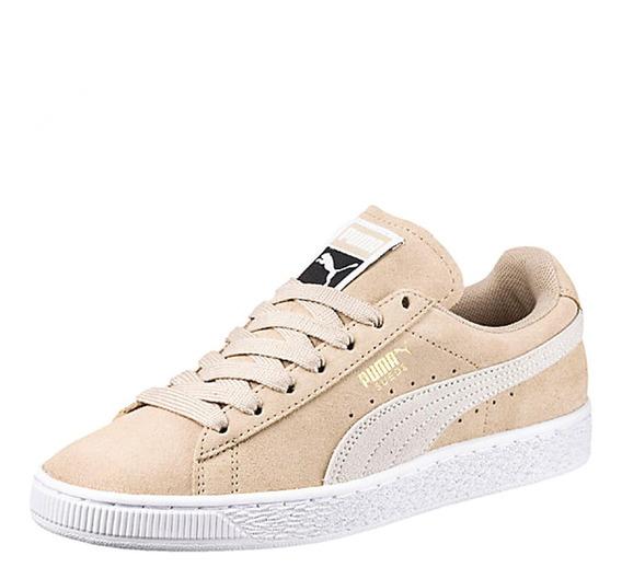 Zapatos Damas Puma Suede- Beige - Tallas 40.5 Y 41