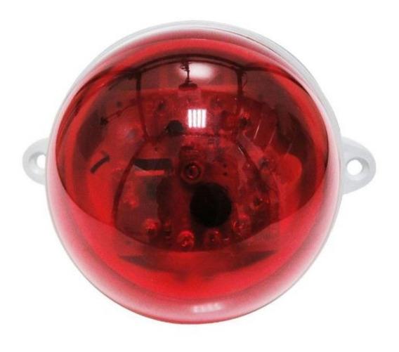 Sinalizador Audiovisual De 12 Led Flash Buzzer Alerta Sonoro