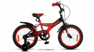 Bicicleta Aurorita Infantil Rodado 16 Spider El Parche