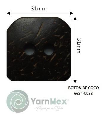 Botón De Coco   6654-0033 - 50pzas