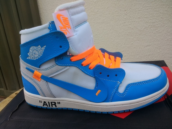 Tênis Nike Air Jordan 1 Off-white Azul