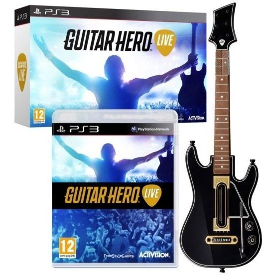 Guitar Hero Live Bundle Guitarra E Jogo Playstation 3 Ps3