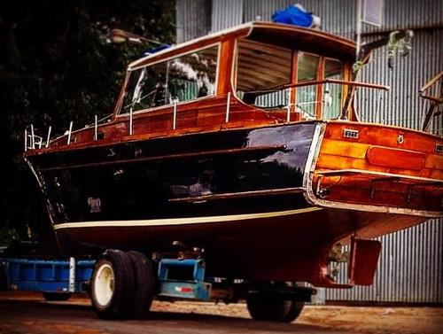 Crucero Madera Barco Clásico Pezzola