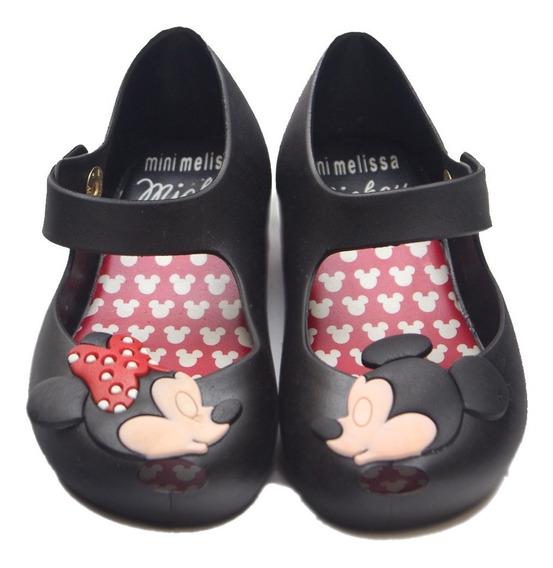 Sapatilha Bebê Mini Mel Minnie E Mickey Beijo