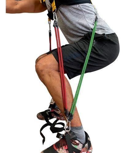 Imagem 1 de 10 de Elásticos Para Exercícios 80kg + Agachamento Colete De Carga
