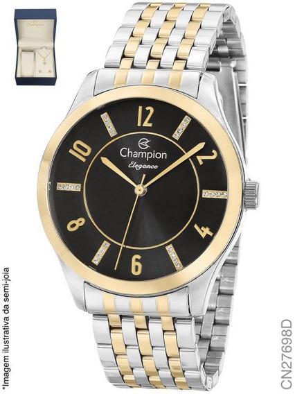 Relógio Champion Feminino Original Prata Cn27698d