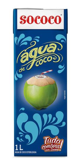 Kit Água De Coco Sococo 1l - 2 Unidades