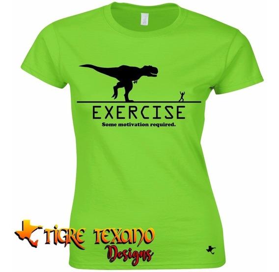 Playera Crossfit Exercise Rex Gym By Tigre Texano Designs