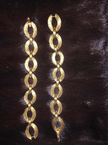 Pulseira Argola Ouro 750 Bracelete As Duas Viram Um Colar